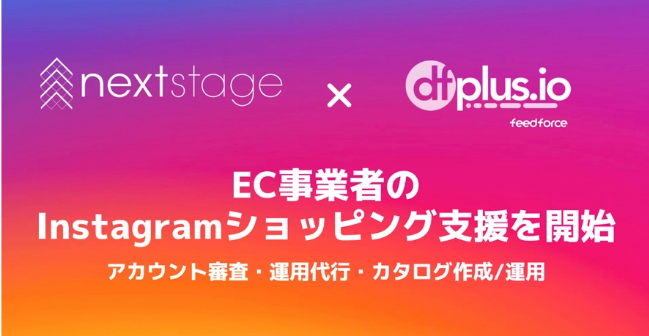 フィードフォース社「dfplus.io」を活用した「Instagramショッピング」におけるEC事業者支援を開始